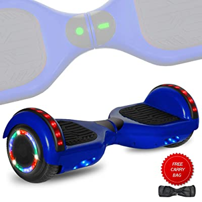 DOC Electric Hoverboard Self-Balancing Hoover Board with Built in Speaker LED Lights Wheels UL2272 Certified (_Blue Skull): Sports & Outdoors