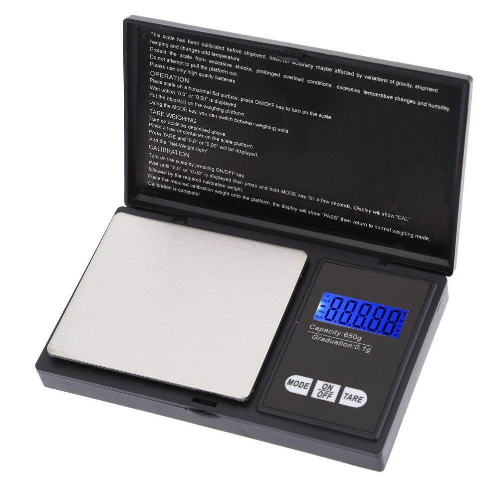 Amazon.com: Trudged(TM) Mini pesa Electronic Digital Pocket Scale Jewelry weight joyeria Weighing Balance Portable 650g/0.1g bascula precision balance: ...