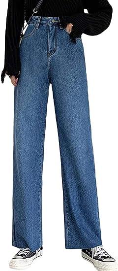 [Bestmood]デニムパンツ レディース 裏起毛 ワイドパンツ 厚手 デニム ゆったり 防寒 ジーンズ ブーツカット ハイウェスト 着痩せ ロングパンツ 暖かい カジュアル ズボン 冬