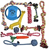 Pacific Pups Products Dog Rope Toys for Aggressive Chewers - Set of 11...