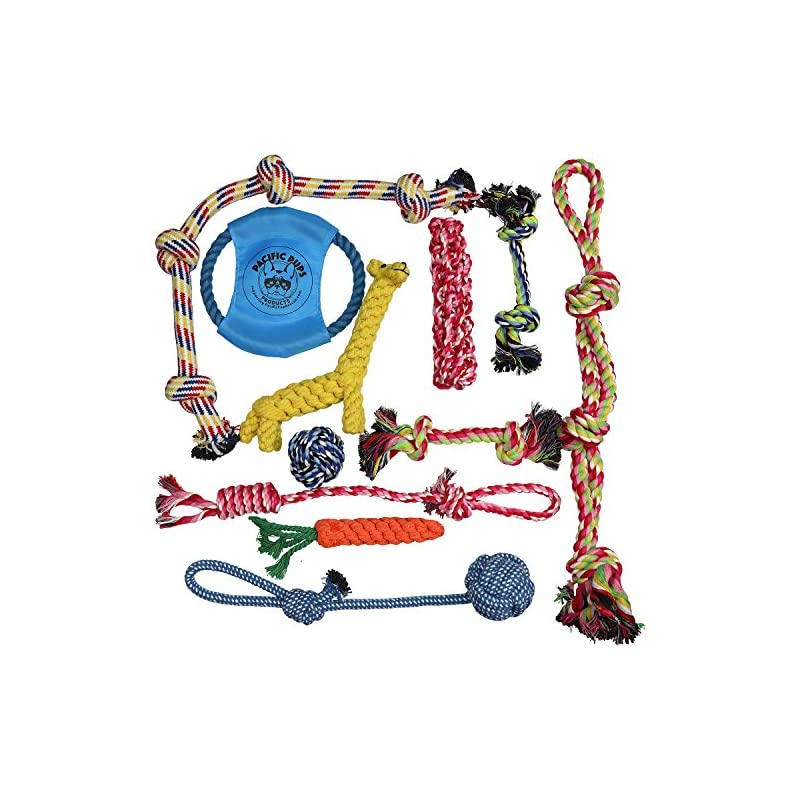 dog supplies online pacific pups products supporting pacificpuprescue.com dog rope toys for aggressive chewers - set of 11 nearly indestructible dog toys - bonus giraffe rope toy - benefits nonprofit dog rescue