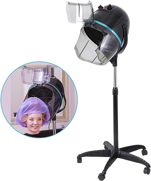 Wakects Casco Asciugacapelli Professionale, 1000W Asciugacapelli Parrucchieri Cappuccio Asciugatrice per Barbiere Salone, con Timer Regolabile