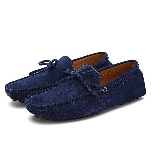 SHELAIDON Mocasines Planos Zapatos para Hombre de Cuero Casual, Loafers Men Shoes: Amazon.es: Zapatos y complementos