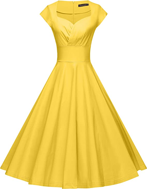 Women's 1950s Vintage Swing Stretchy Party Dress