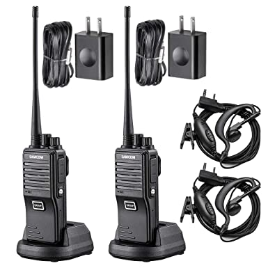 SAMCOM FPEN10A 20 Channels 2 Way Radio with Group Function, UHF Long Range Handheld Walkie Talkie 2 Watts 2 Packs,Black