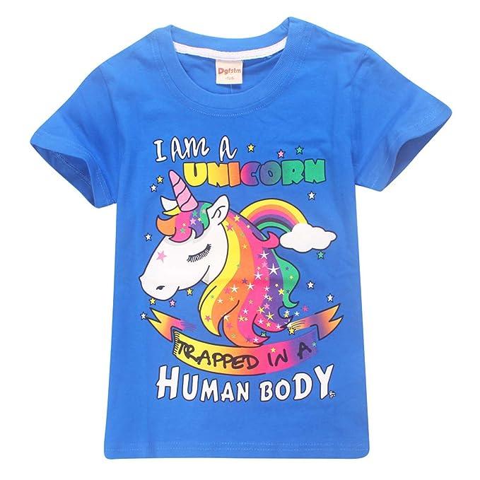 ac04e6e2f Vannie Unisexo I Am A Unicorn Camiseta Infantil Divertida en Forma de  Unicornio Soporte Camiseta 100