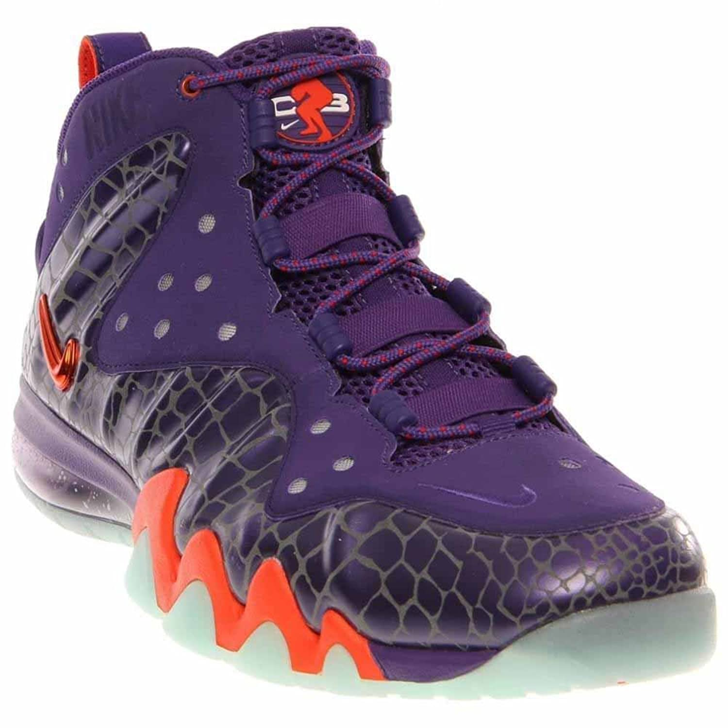 Nike Barkley Posite Max 555097 581 Mens Basketball Trainers Sneakers Court  Purple Team Orange Phoenix Suns