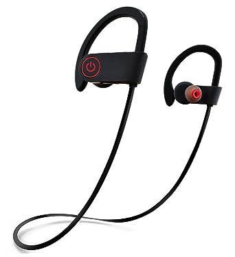 Deportes Auriculares Bluetooth de sudor, augymer auricular bluetooth inalámbrico auriculares micrófono de auriculares con cancelación