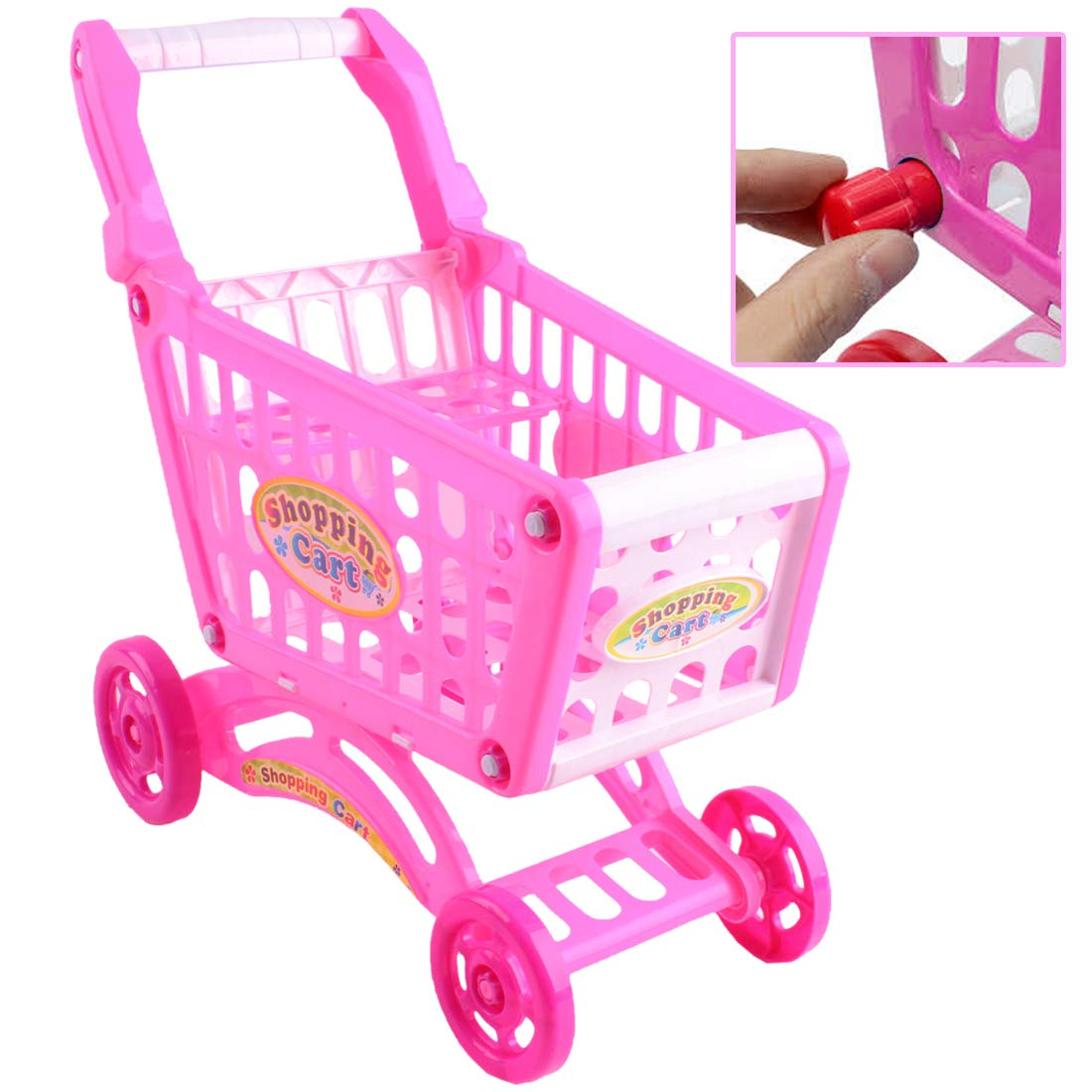 Amazon.com: (SPC-P) deAO PINK Childrens Shopping Trolley Over 80pcs Play Food Role Play New Model by deAO: Toys & Games