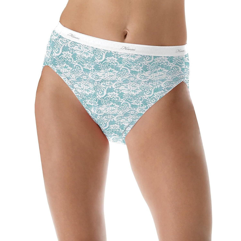 Hanes Women's No Ride Up Cotton Hi-Cut Panties 6-Pack