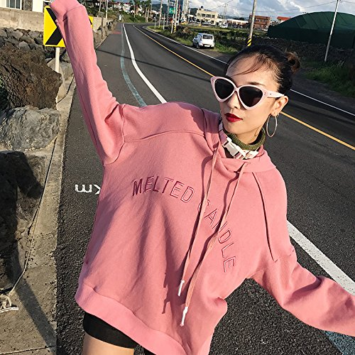 Sweater couple Fall thin Hooded Pink turtleneck Coat Female loose pink 6qx5nv
