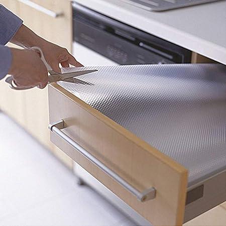 Transparente Cajón Forro Armario Cocina Tapete Impermeable Armario Protector de Mesa Antideslizante Mantel Multiuso Transparente Cortar para Adaptar - Como en la Imagen Show, 45cm X 120cm: Amazon.es: Hogar