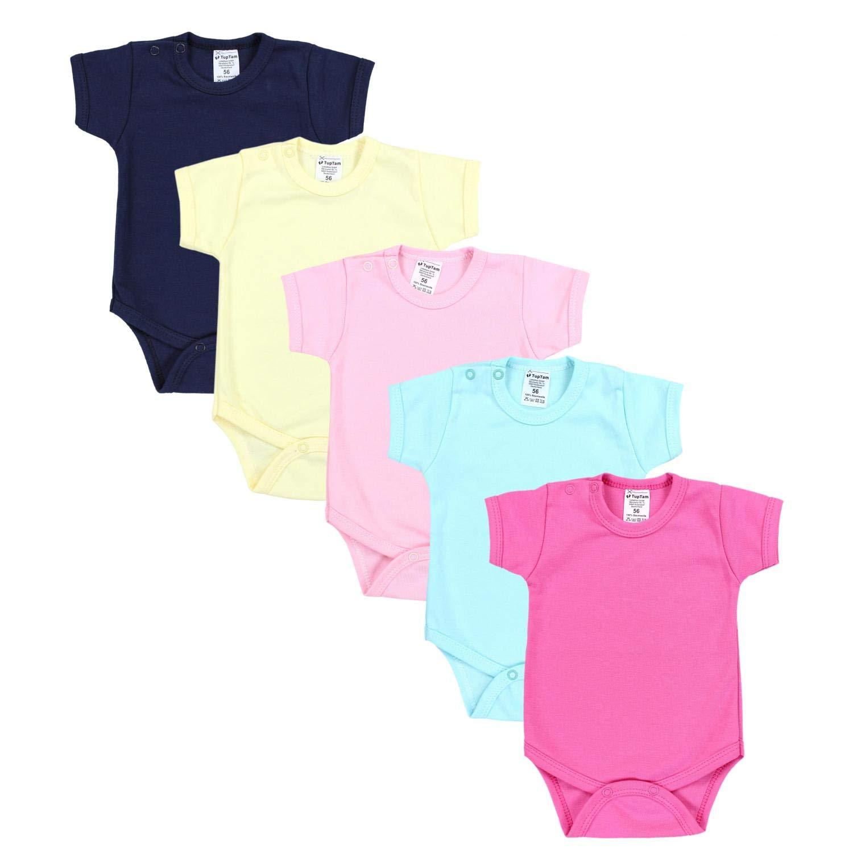 Farbe 74 TupTam Baby M/ädchen Strampler mit Aufdruck Spruch 3er Pack Gr/ö/ße Farbenmix 1