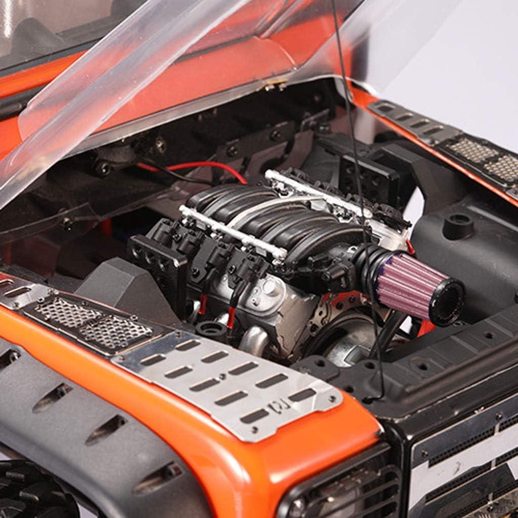 Professional Simulation V8 Engine Cover Radiator Fan for Traxxas TRX4 D110 D130