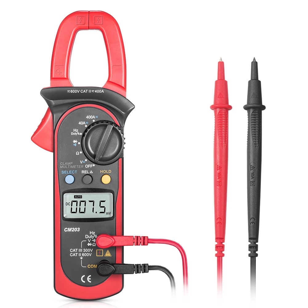 Digital Clamp Meter, SYNERKY CM203 4000 Counts Auto-Ranging ...