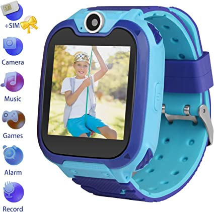 Kids Smartwatch with SIM Card Included,Two-Way Phone Call Games Camera Music Player 1.54 inch Touch Screen Boys Girls,Children Birthday Gift