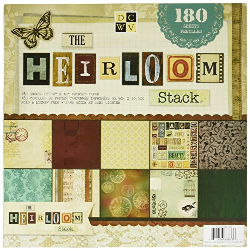 - DCWV Heirloom Paper Stack 12