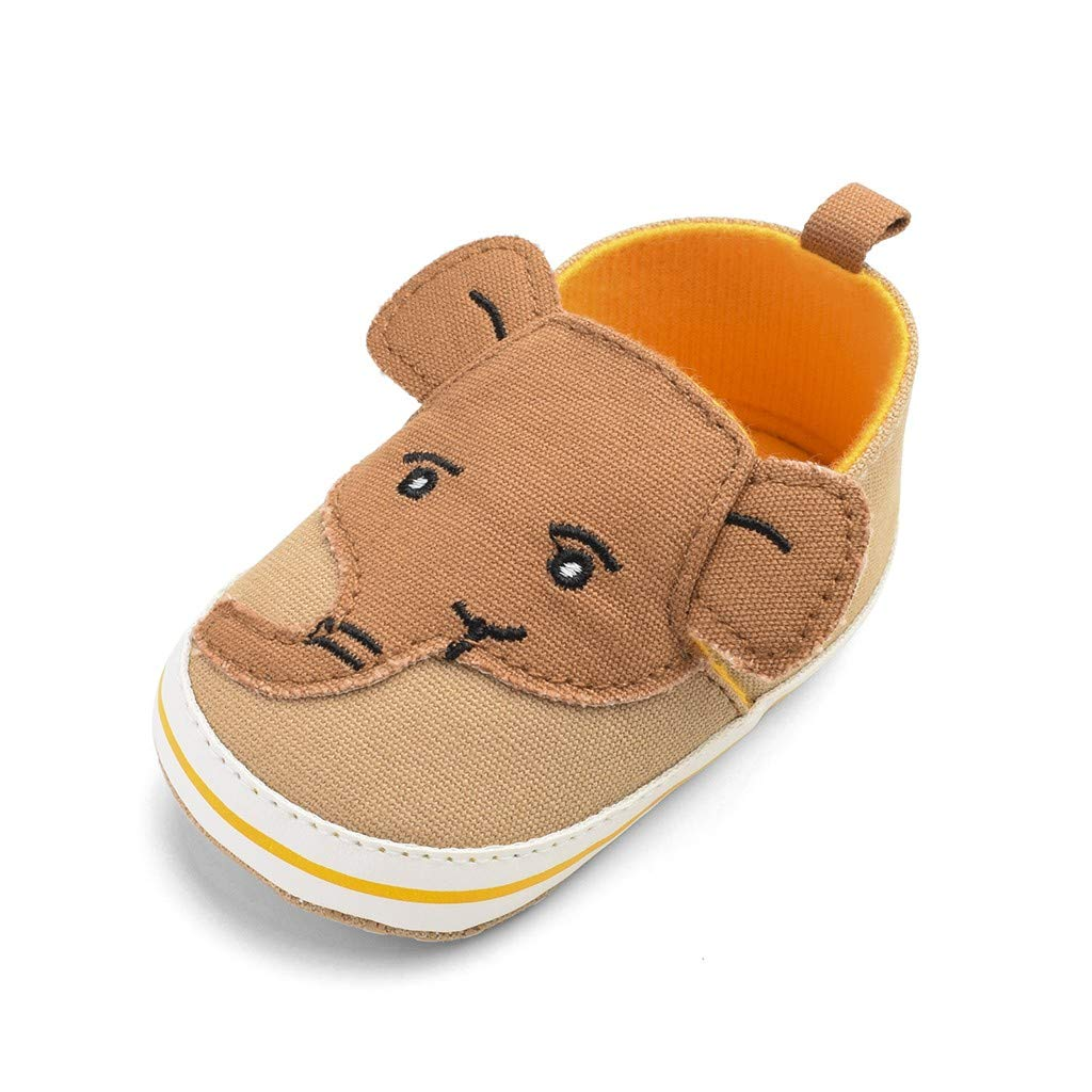 Kstare Baby Boys Girls Cotton Rubber Sole Outdoor Elephant Cute Fit Casual Newborn Sneaker First Walkers Shoes