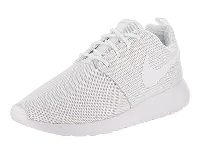 Amazon.com   Nike Womens Roshe One White White Pure Platinum Running ... 0b8098d468