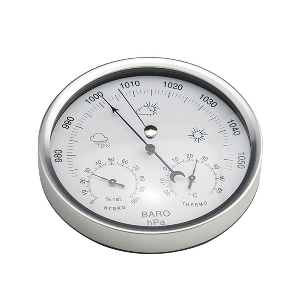 AMTAST Dial Type Weather Station, Barometer with Thermometer and Hygrometer, Simplicity and Easy Reading
