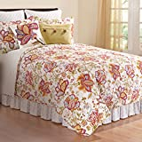 Bethany Floral Reversible 3 Pc. Quilt Set (Queen)
