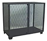 Jamco Products MA472-BL Stationary Mesh Security Cabinet with One Shelf, 36 x 72, Powder Coated Black