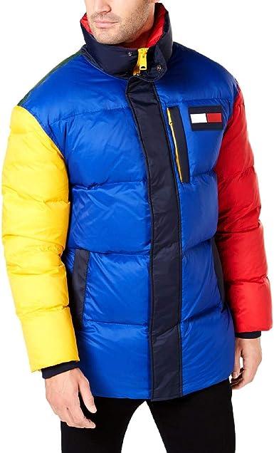 Tommy Hilfiger Mens Colour Block Jacket Multicoloured