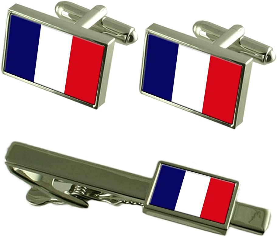 Select Gifts Guayana Francesa Bandera Gemelos Clip de Corbata ...