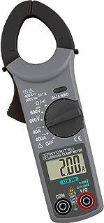 Kyoritsu KEW 200 Pinza amperometrica digitale compatta per la misura di correnti AC, tensioni AC/DC, resistenza, continuità , grigio