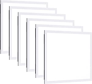 Sunco Lighting 6 Pack LED Ceiling Panel, 2x2 FT, 40W, Dimmable 0-10V, 4400 LM, 5000K Daylight, Flat Backlit Fixture, Direct Wire, Flush or Drop Ceiling Install, Dust Tight Commercial Grade - ETL, DLC