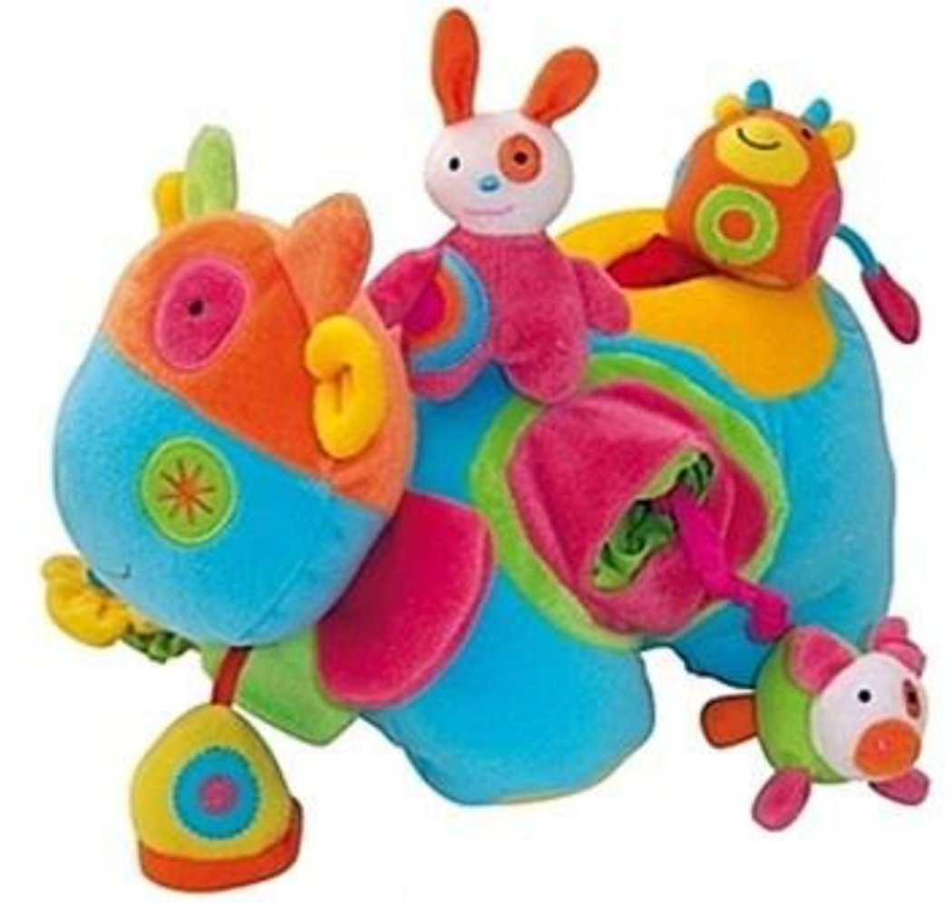 Activity Cow Baby Attachment Doll, 7.4'' x 11'' , for Toddler Development Toy