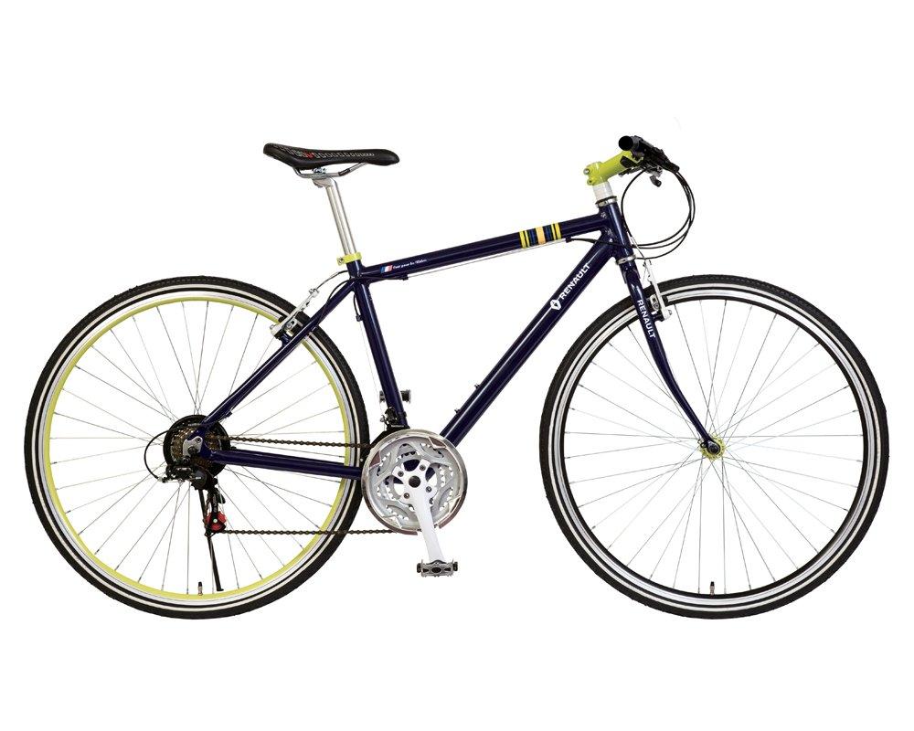 ルノー(RENAULT) AL-CRB7021-N 軽量アルミフレーム クロスバイク 700c シマノ21段変速機搭載 前後Vブレーキシステム スタイリッシュスポーツクロスバイク 11191 B07DHN9QZD ネイビー ネイビー