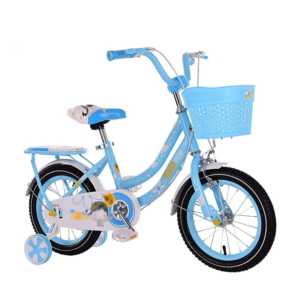 子供用自転車2-3-6-7-8-10歳の少年と少女の赤ちゃんキャリッジペダル12 14 16 18インチ自転車ブルーピンクローズ赤 B07DV8YQTK 14 inch|青 青 14 inch