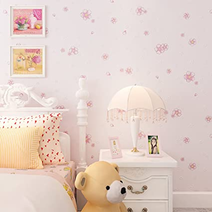 children\'s room wallpaper/ girls bedroom warm wallpaper/Cute non ...
