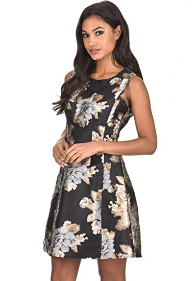 816bb030fb AX Paris Women s Floral Skater Dress at Amazon Women s Clothing store