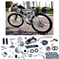 YaeCCC Bicycle Motor Kit 80cc 2 Stroke Motor Engine Mountain Bike Upgrade Kit Gas for Motorized Bicycle Bike Kits Silver
