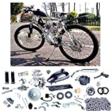 YaeCCC UPGRADED 80cc 2-Stroke Motor Engine Kit Gas for Motorized Bicycle Bike Silver