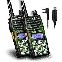 Baofeng - 2PCS UV-5XTP 8W Dual Display VHF136-174MHz UHF400-520MHz Handheld Two-way Radio Standby Transceiver Walkie Talkie+Programming Cable