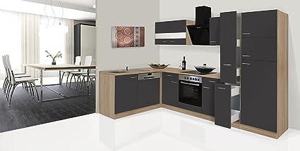 respekta Economy Unidad de Esquina en Forma de L Cocina Cocina Roble 310 x 172 cm