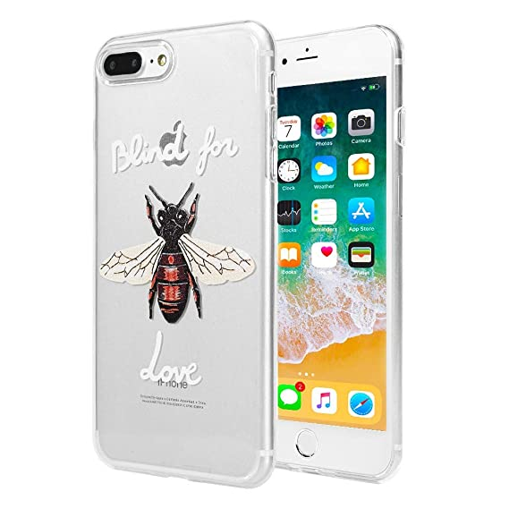 iPhone 7 Plus   8 Plus Bee Love Case  Luxury Transparent Durable Designer  Womens Protective 57ed34f4a