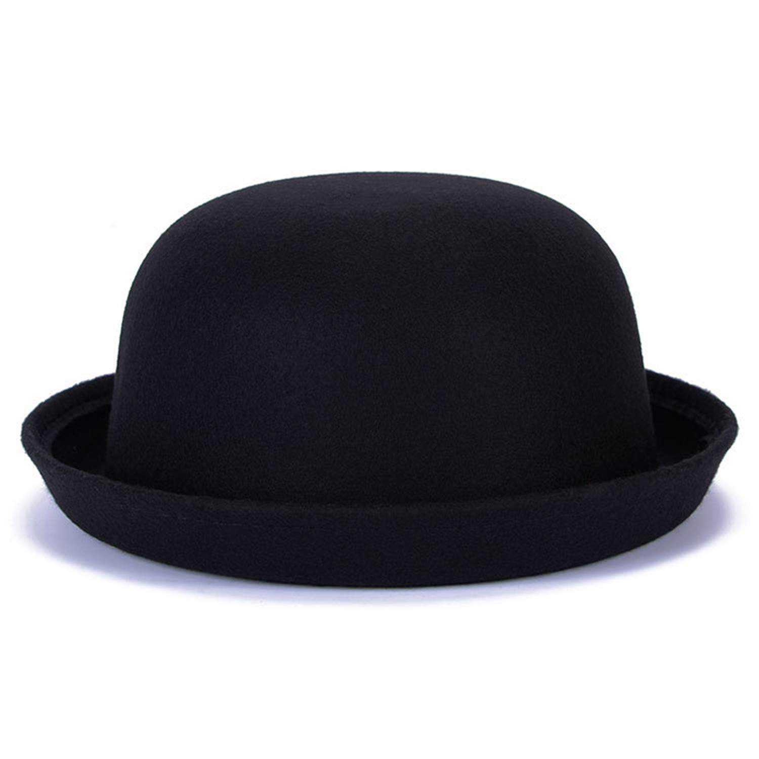 Zesoma Winter Women Woolen Felt Hat Fedoras Warm Soft Formal Hat Casual Bowler Hat