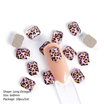 Nail Rhinestones Nail Stones Purple Leopard Print Nail Art