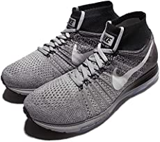 ... Nike Men Zoom All Out Flyknit Running (wolf grey / white-black-pure