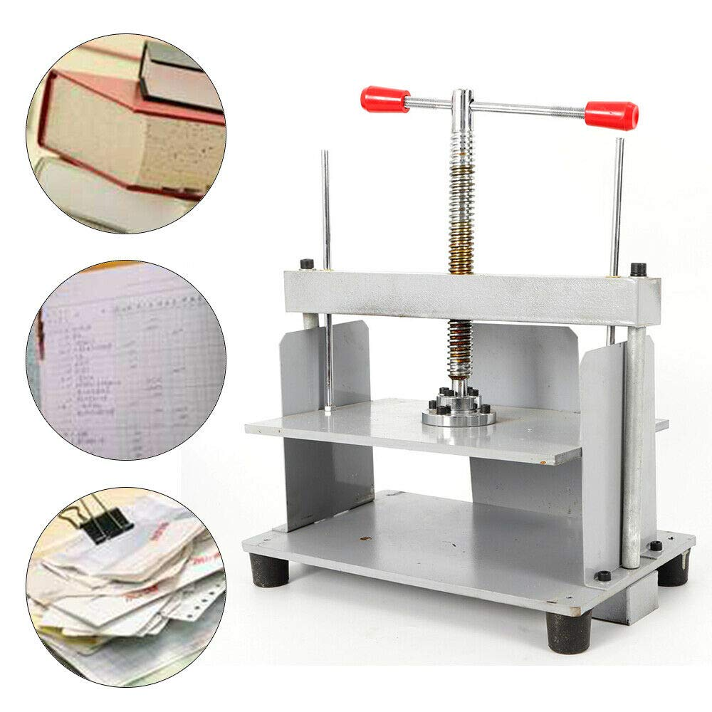 A4 Steel Notes Invoice Flattening Machine, Manual Flat Paper Machine with Balance Bar for Photo Books, Booklets, Checks- US Shipping