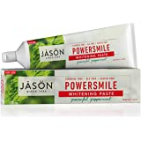 JASON Powersmile Whitening Fluoride-Free Toothpaste, Powerful Peppermint, 6 Ounce Tube