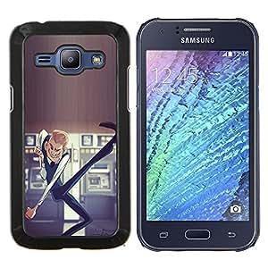 TECHCASE---Cubierta de la caja de protección para la piel dura ** Samsung Galaxy J1 J100 ** --Bailando La lotería Hombre Dinero de la suerte