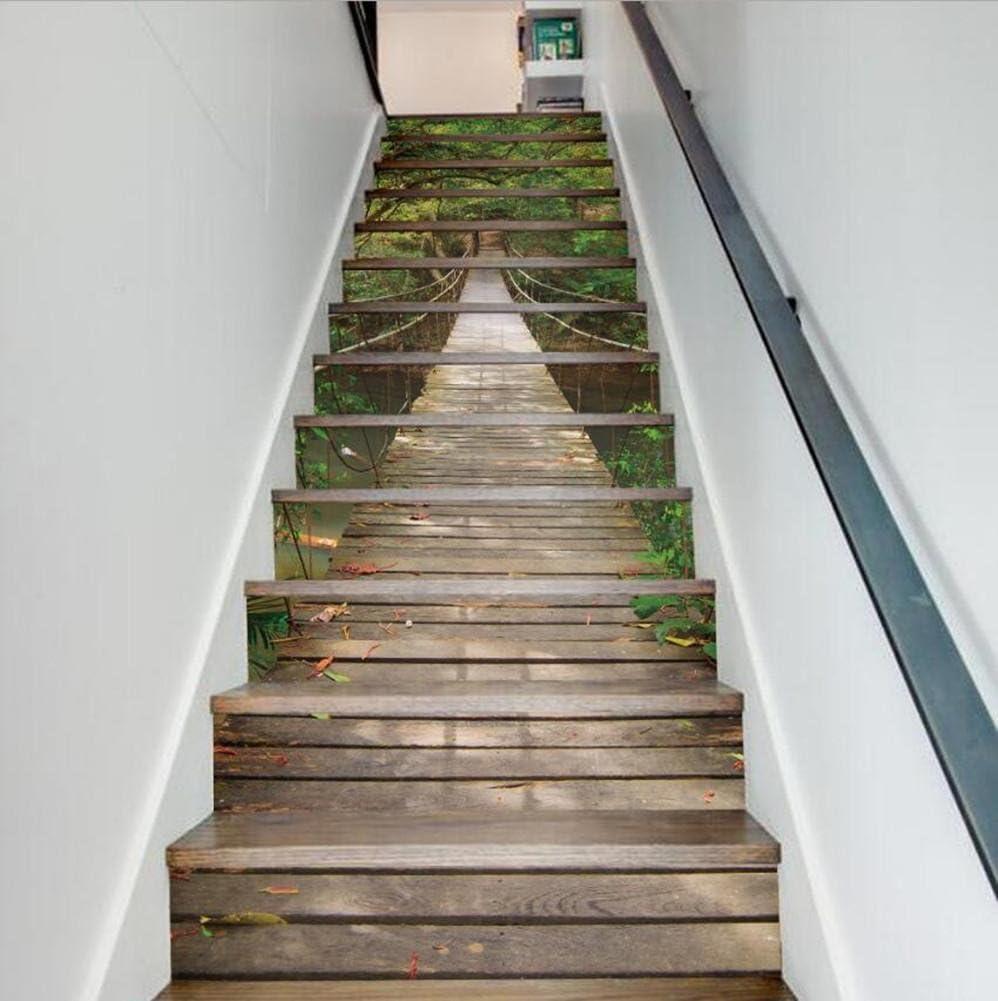 Escalera etiquetas engomadas de la pared del paisaje DIY 3D ...