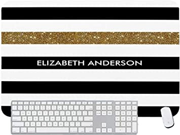 Gaming Mouse Pad Black and Gold for Desktop and Laptop 1 Pack 1200x600x3mm//47.2x23.6x1.1 in