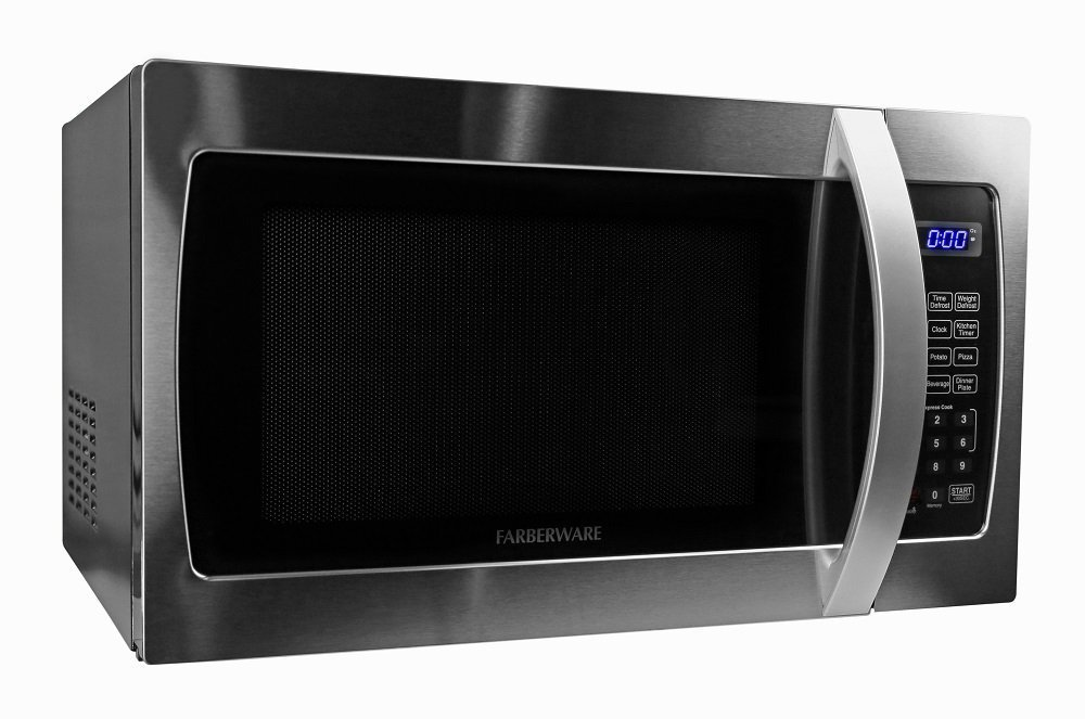 Microwave Oven Compact Countertop Electric Stainless Steel 1000 Watt 1.3 Cu. Ft. Cookware