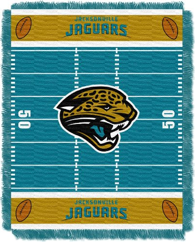 y Officially Licensed NFL Jacksonville Jaguars Field Bear Woven Jacquard Baby Throw Blanket, 36